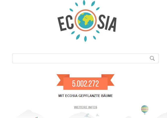 Ecosia feiert 5 Mio. Bäume
