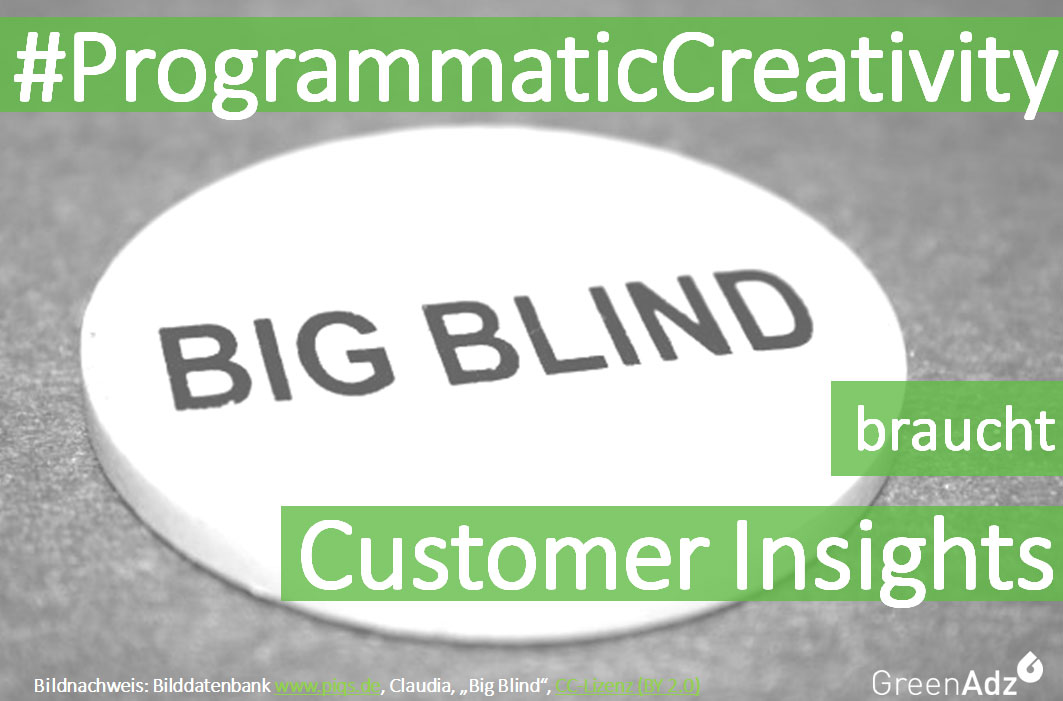 ProgrammaticCreativity braucht Customer Insights und Personas