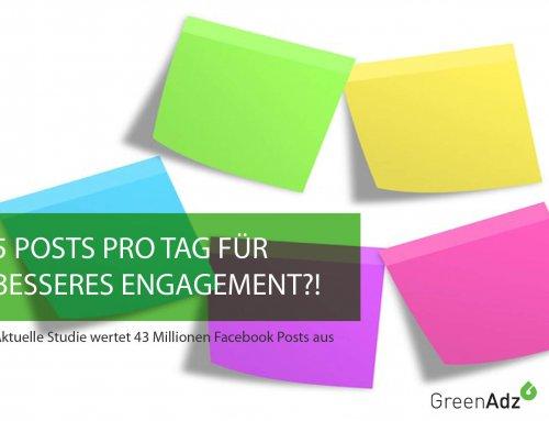 Studie: 5 Posts pro Tag als Antwort auf sinkende Engagementraten?!