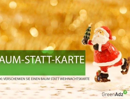 Bäume statt Weihnachtskarten schenken