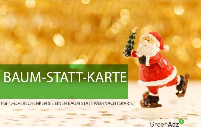 Unser Beitrag zum Klimaschutz? Bäume-statt-Weihnachtskarten:Für nur 1,-€ netto verschenken Sie nachhaltige Freude, schonen das Klima bzw. die Umwelt und zaubern ein Lächeln auf die Gesichter Ihrer Kunden. #BäumestattWeihnachtskarten #Weihnachtsgeschenke #Weihnachtspost #Kundengeschenke #EntrepreneursforFuture #Klimawoche #Sustainability #BaumstattKarte